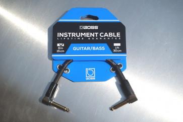 Original BOSS Jack kabel 15 cm. - Vinkel