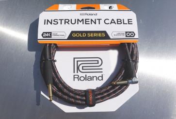 Original Roland Gold Jack kabel 6 meter - Vinkel