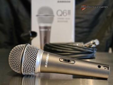 SAMSON Q6 mikrofon med NeoDy. kapsel, afbryder og kabel