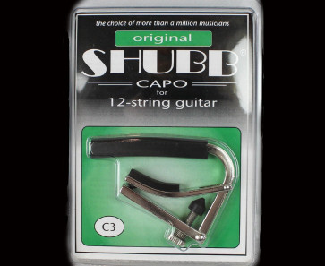 Shubb C3 Capo til 12 strengs western og el-guitar