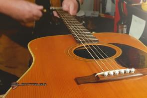 Guitar Reparation: Justering af Western guitar m/nye strenge
