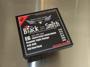 "010 El-guitar strenge *Black Smith* ""Coated"""