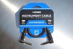 Original BOSS Jack kabel 30 cm. - Vinkel