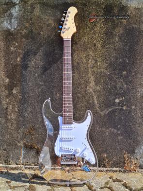 Gennemsigtig Acryl el-guitar