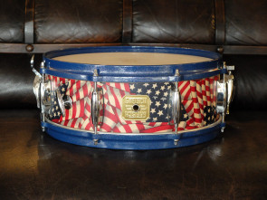 "**SOLGT** Gretsch USA lilletromme ""Flag"""