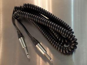 Spiral Jack kabel 6 mtr.