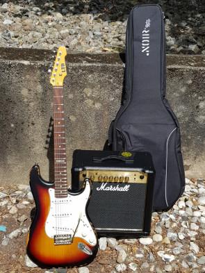 Z-TILBUD... LTD + Marshall 15 forstærker + Gigbag