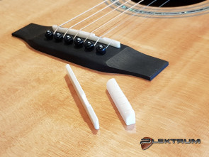 Guitar Reparation: Ny sadel / bro på Akustisk guitar