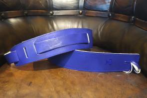 Læder GuitarRem - Blå