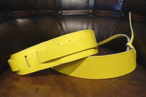 Læder GuitarRem - Gul