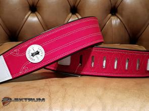 Levy's Vintage rød læder GuitarRem