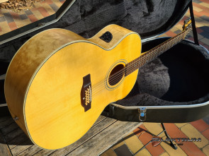Landola 12 strg. Jumbo western guitar med pick-up & kasse