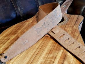 Levy's Vintage Nubuk læder GuitarRem