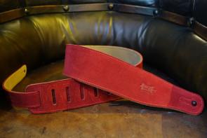 Levy's Rød Nubuk læder GuitarRem