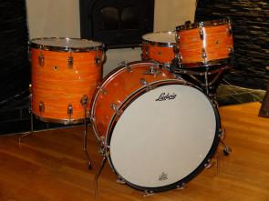 **SOLGT** Vintage Ludwig trommesæt i Mod Orange