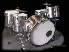 **SOLGT** Ludwig vintage 1977 Stainless Steel trommesæt