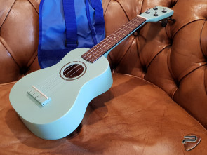 RENO Sopran Ukulele i Light Green m/ etui