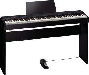 Roland el-piano F-20dw i walnød med stativ