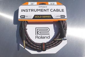 Original Roland Gold Jack kabel 4,5 meter - Vinkel