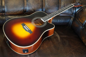 Santana LA-100 Sunburst Western Guitar