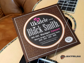 Black Smith Ukulele Concert strenge - Sorte