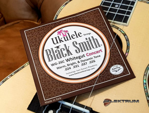 Black Smith Ukulele Concert strenge - Hvide