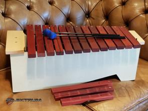 Xylofon med køller m.m.