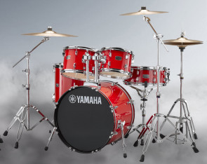 Yamaha Rydeen trommesæt i Hot Red m/ bækkener