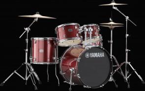 Yamaha Rydeen trommesæt i Burgundy Glitter m/ bækkener
