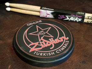 Zildjian øveplade / Pratice pad med stikker